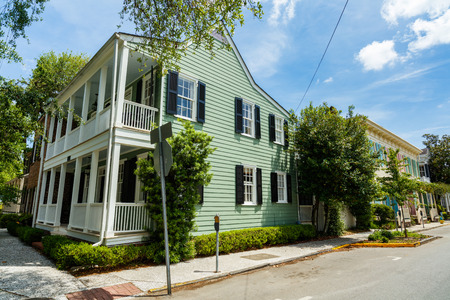 corner house: Beautifully restored apartment homes in the historic residential district of Savannah, Georgia. Editorial