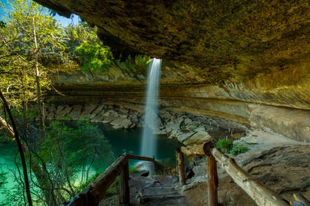 The natural Hamilton Pool is a popular tourist destination in rural Travis County.
