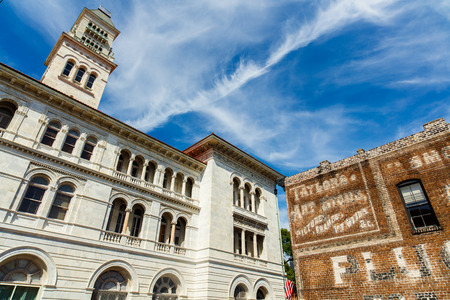 downtown district: Savannah, GA USA - April 25, 2016: Classic architecture of the US Post Office and Courthouse in the historic downtown district. Editorial