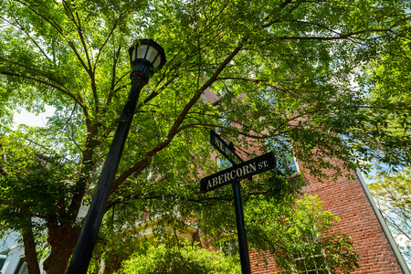 historic district: Reynolds Square Park in the popular historic district.