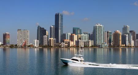 マイアミのスカイライン 写真素材