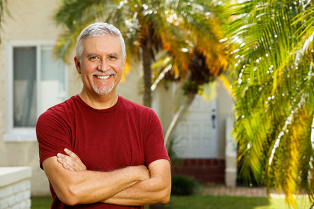 middle age man: Handsome middle age man outdoor portrait.