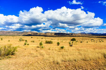 new mexico: Beautiful New Mexico desert landscape. Stock Photo