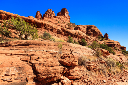 red rock: The natural beauty of the red rock canyons and sandstone of Sedona in Arizona.