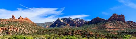 Panoramic landscape of beautiful Sedona in Arizona. Stock Photo