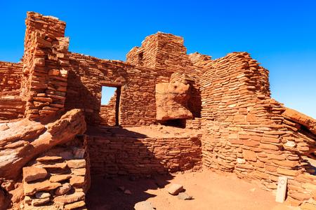 The Wupatki native american ruins located near Flagstaff, Arizona. Stock Photo