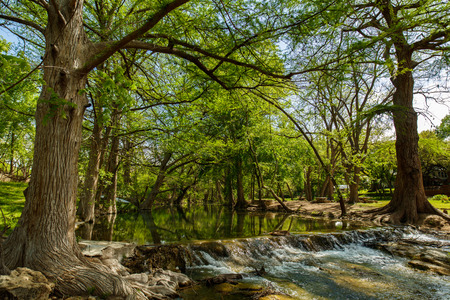 The natural beauty of the Texas Hill Country in the small town of Wimberley.