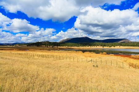 bordering: Beautiful southeastern Arizona landscape bordering New Mexico. Stock Photo