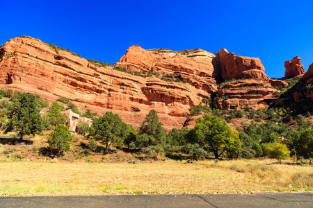 southwestern: The natural beauty of the red rock canyons and sandstone of Sedona in Arizona.