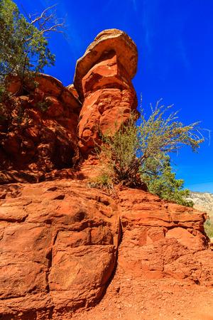 The natural beauty of Slide Rock in Sedona, Arizona. Stock Photo