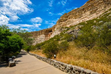 Scenic view of the beautiful Montezuma Castle National Monument in Arizona. Stock Photo