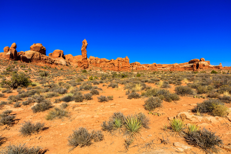 red america: The natural beauty of Arches National Park in Utah.
