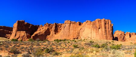 bluesky: The natural beauty of Arches National Park in Utah.