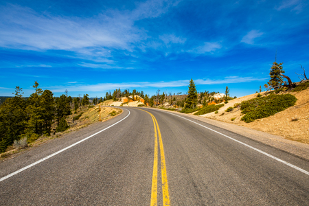Scenic highway in Bryce Canyon National Park in Utah.