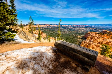 Beautiful landscape view of the natural beauty of Bryce Canyon National Park in Utah. Stock Photo