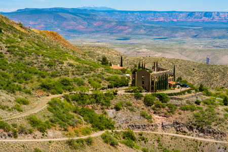 Scenic view of the popular mountain town of Jerome in Arizona. Editorial