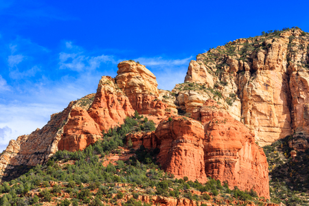 The natural beauty of the Arizona desert with majestic sandstone buttes. Stock Photo