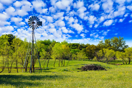 Pretty Texas Hill Country ranch with a windmill.