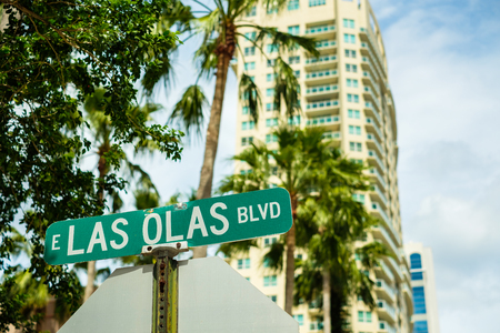 Cityscape view of the the popular Las Olas downtown district.