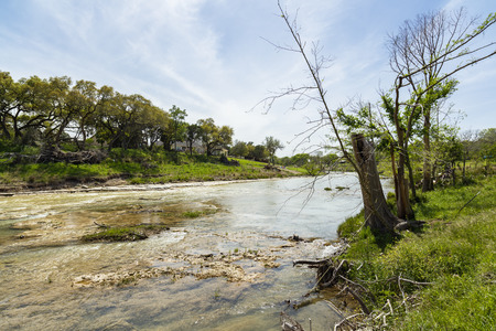 The Blanco River and the natural beauty of the Texas Hill Country in the small town of Wimberley.