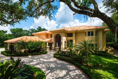 Modern Mediterranean architecture style luxury estate home located in Miami.