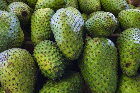 Close up view of fresh Florida guanabana fruit.