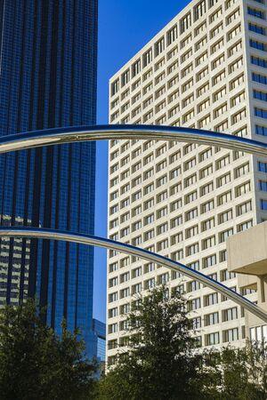 Houston, Texas USA - November 1, 2019: Cityscape view in the uptown Houston, Texas business district.