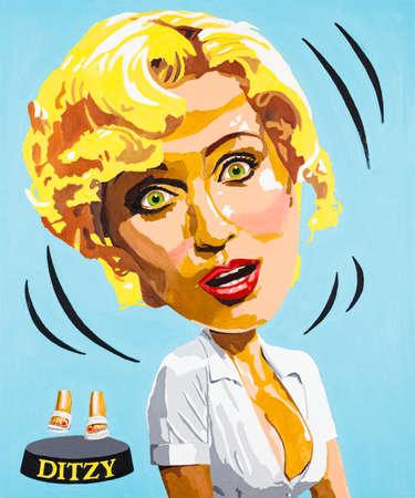 Modern conceptual art portrait painting of a