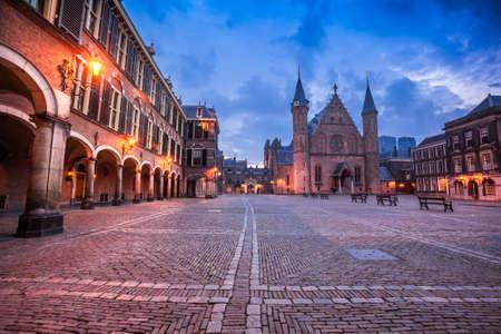 Het stadscentrum van Den Haag, overheidsgebouwen Stockfoto