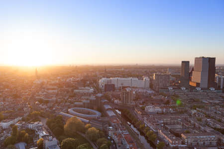 The Hague panorama at sunset