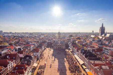 Main square Delft, Netherlands