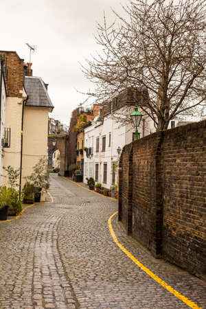 Narrow street London Stock Photo