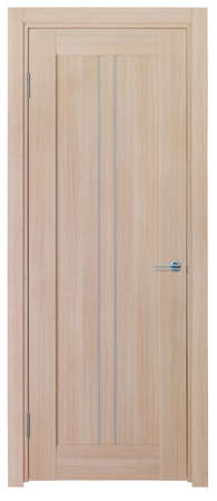 wooden door on a white background photo