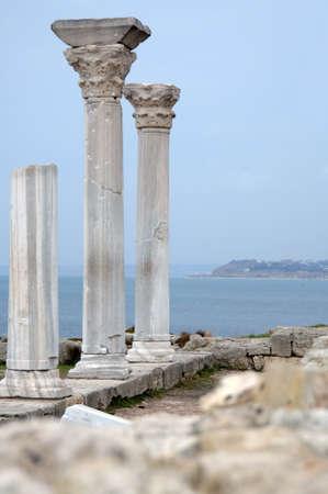 the ruins of ancient buildings and the sea coast, Crimea, Ukraine Stock Photo - 9291974