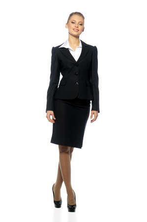 woman manager in a suit on an isolated background