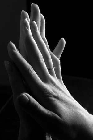 jewel hands: womans hands with a ring Stock Photo