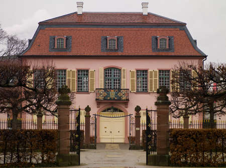 two floors: A beautiful castle with two floors of the main entrance