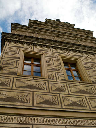 Historic building with a beautiful design in the center of Prague Stock Photo - 12427392