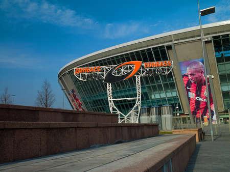 donbass: DONETSK, UKRAINE Donbass Arena stadium Ukraine  The stadium hosts Football Club Shakhtar Donetsk and will host UEFA EURO Championship in 2012
