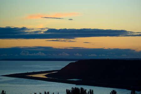 a beautiful evening seascape photo