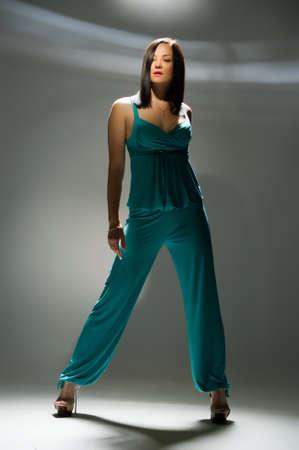girl posing in a professional  studio photo