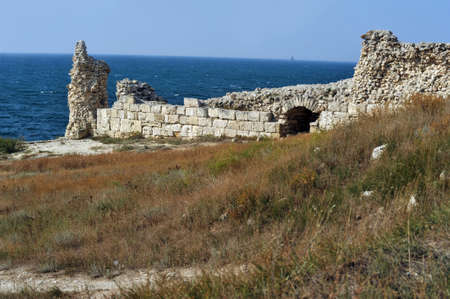 Sea landscape with a beautiful view of the cliff at Chersonesos Stock Photo - 16164971