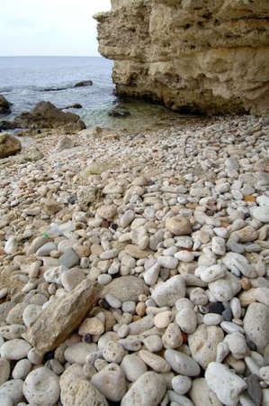 Seascape stone shore of the Black Sea Stock Photo - 17124464