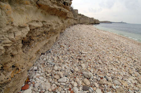 Seascape stone shore of the Black Sea Stock Photo - 17124519