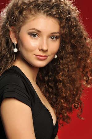 girl model is in the studio posing for the camera Stock Photo - 17669463