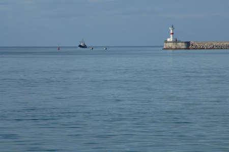 Photo of the Black Sea in the background of the lighthouse Stock Photo - 17495760