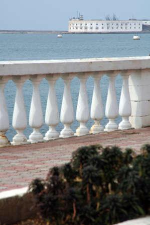 Photo embankment in Sevastopol in the background building Stock Photo - 17495643