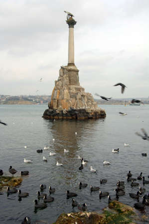 photo of the monument to the sea in the town of Stock Photo - 17495600