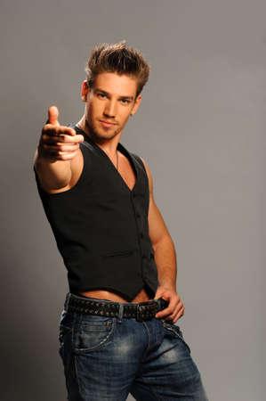 male model in the   studio Stock Photo - 17669769