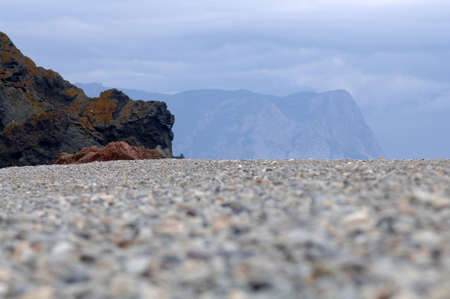 a beautiful seascape on background sky Stock Photo - 17668487